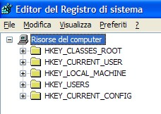Il Registro di sistema di Windows